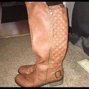 Arizona Cody Quilted Boots Cognac Brown Size 10